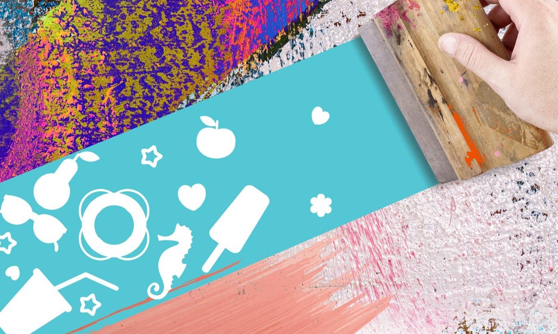 【10-12月手作活動】印染無框畫 絹印明信片 印染杯袋DIY